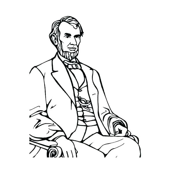600x600 Beautiful Lincoln Memorial Coloring Page Online Sheets Sitting