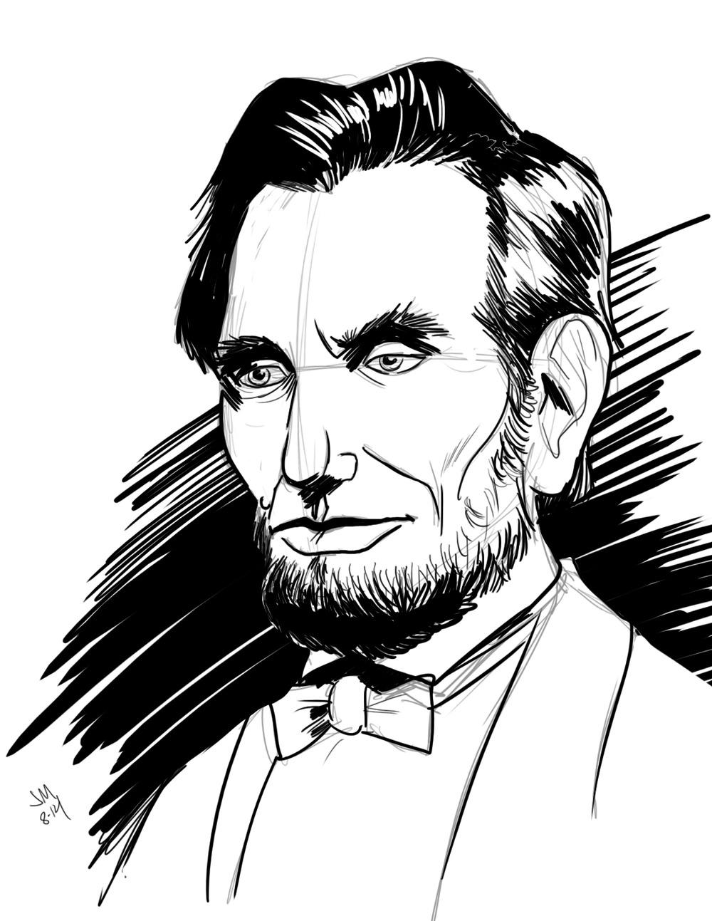 1000x1293 Daily Sketch Lincoln Jason Muhr