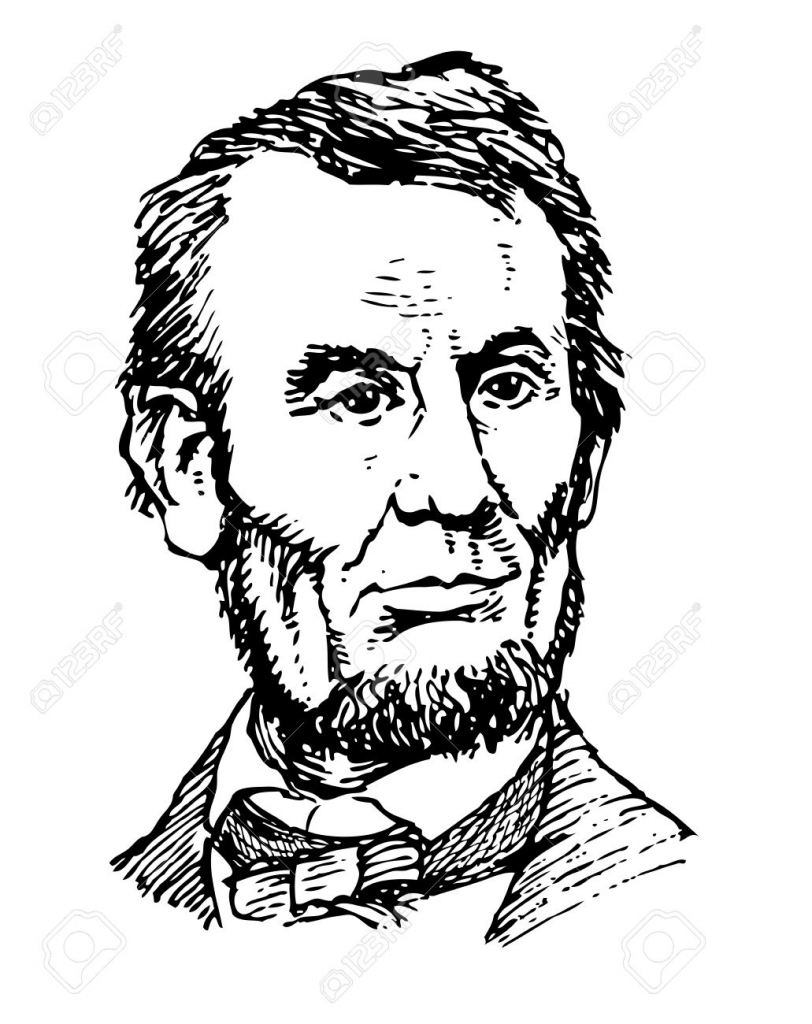 812x1024 Drawing Of Abraham Lincoln