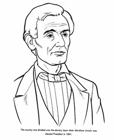 235x288 A Sketch Drawing Of Abraham Lincoln Coloring Page Facebook