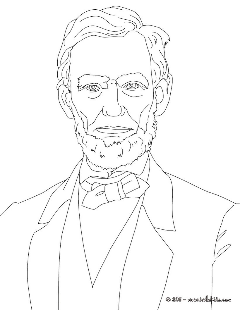 820x1060 President Abraham Lincoln Coloring Pages