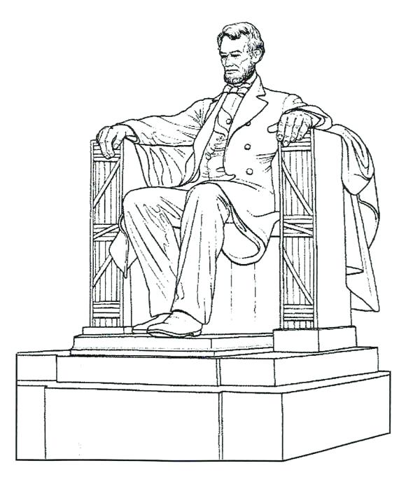 600x688 Unique Abraham Lincoln Coloring Pages Online Best For Kids Easy
