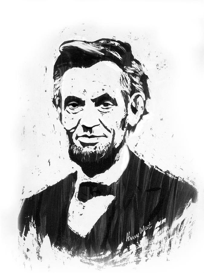 675x900 A. Lincoln Drawing By Harry West