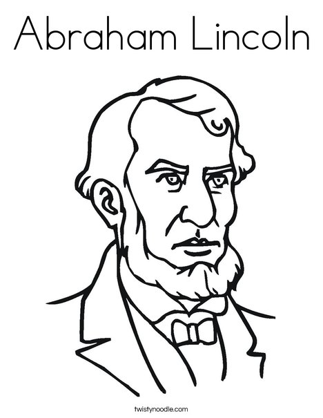 468x605 Abraham Lincoln Coloring Page
