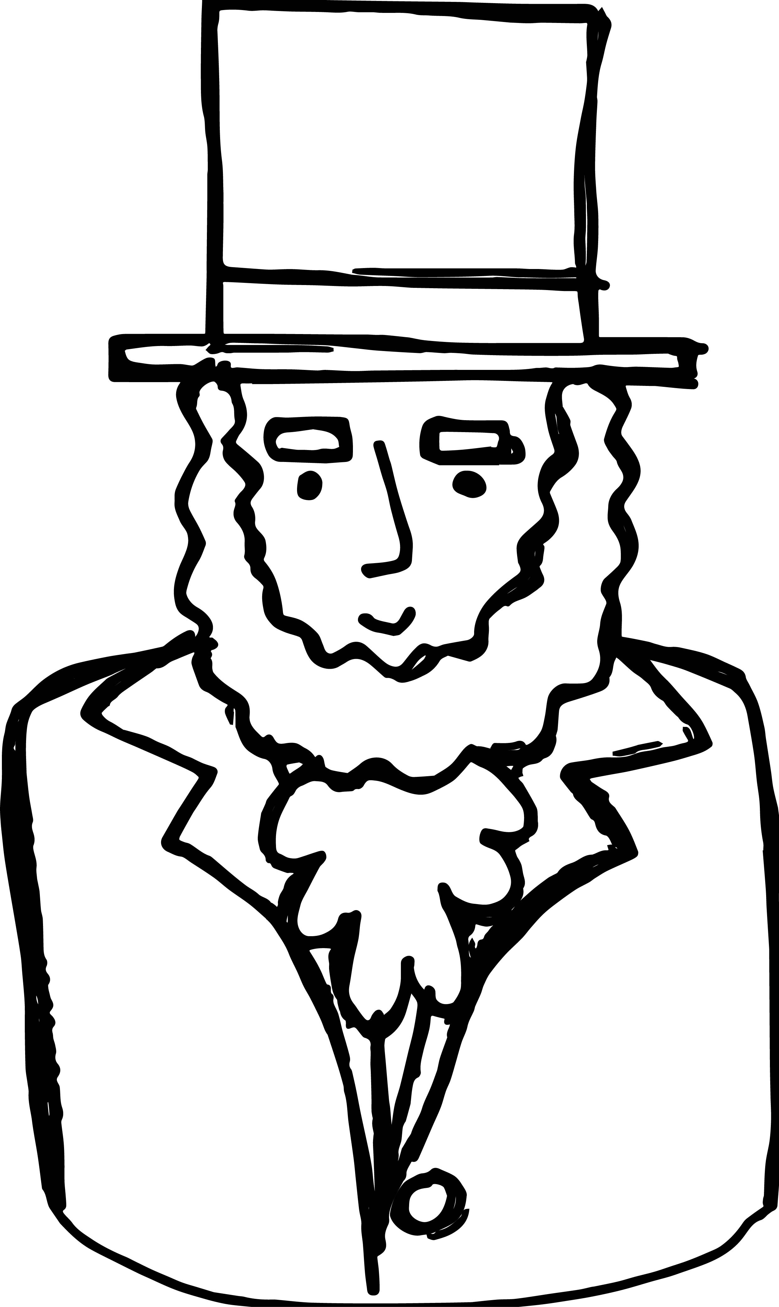 2481x4159 Abraham Lincoln Coloring Page Wallpapers