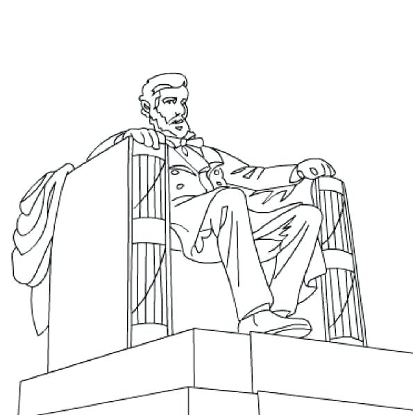 595x597 Lincoln Memorial Coloring Page Here Are Some Printable Coloring