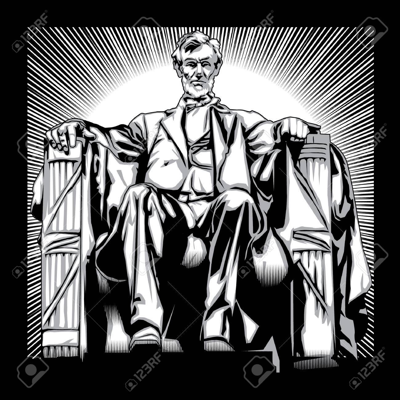 1300x1300 Lincoln Memorial Royalty Free Cliparts, Vectors, And Stock