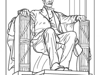 320x240 Lincoln Memorial Coloring Page