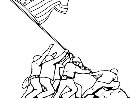 440x330 Beautiful Lincoln Memorial Coloring Page Online
