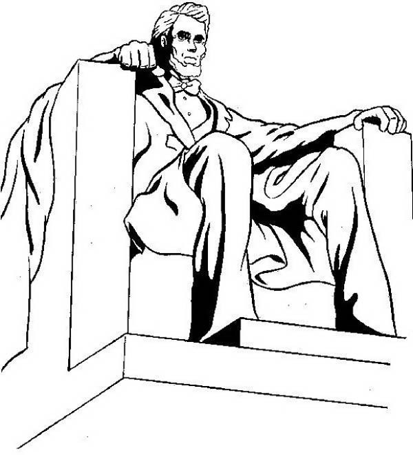 600x660 Lincoln Memorial Coloring Page Coloring Page For Kids