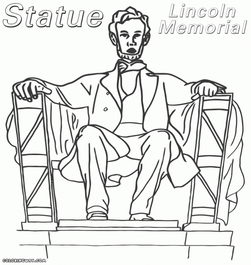 803x848 Coloring Download Lincoln Memorial Coloring Page Abraham Lincoln
