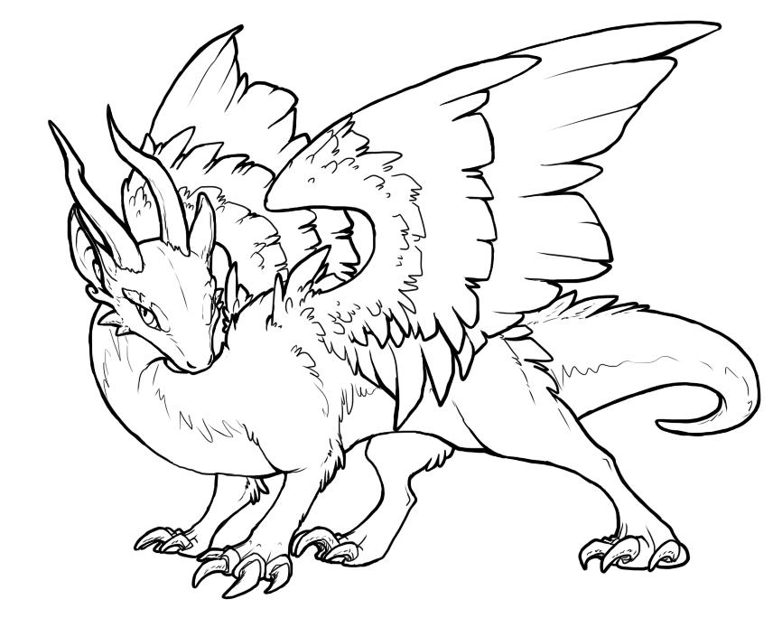 866x684 Free Eastern Dragon Lineart By Jewel Thief
