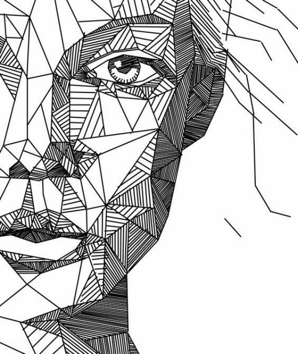 600x712 40 Best Examples Of Line Drawing Art Drawings, Drawing Ideas