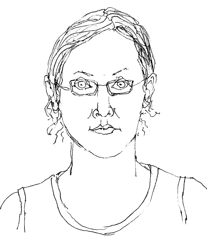 693x800 Self Portrait With Lines