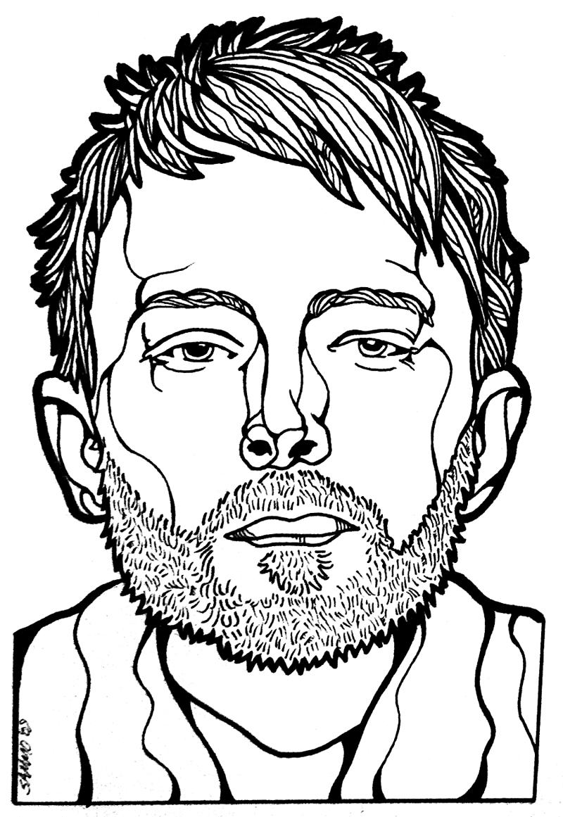 800x1161 Thom Yorke Radiohead Portrait By ~sammo371 On Cool