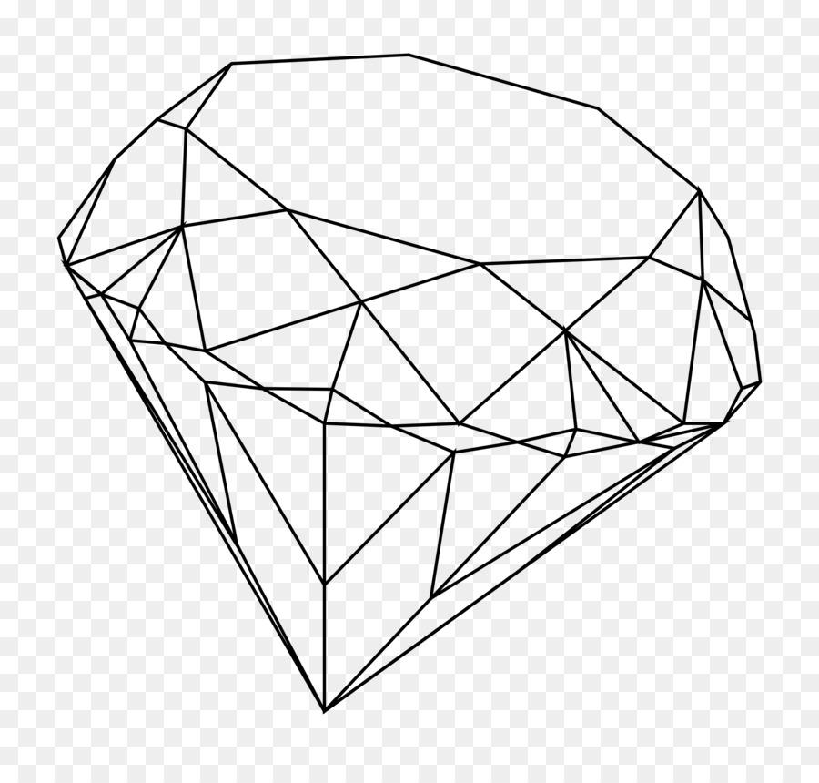 900x860 Diamond Drawing Line Art Clip Art