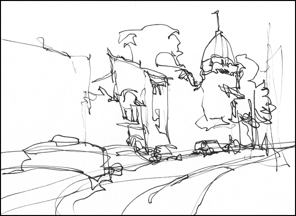 600x437 Direct To Ink Exercises Part One Single Line Sketching Citizen