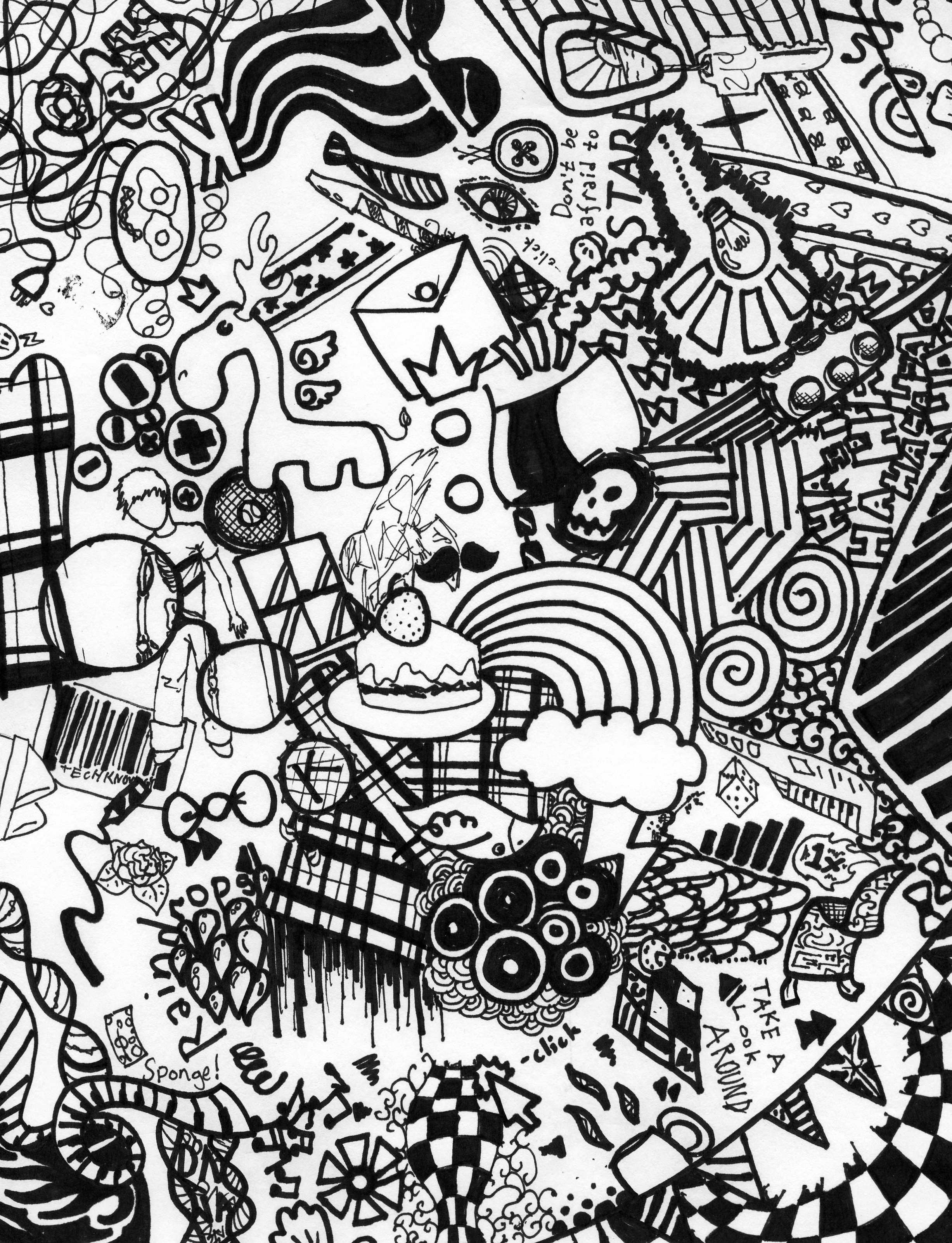 2454x3204 Images About Sharpie Art On Sensational Cool Designs
