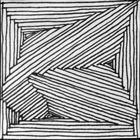 450x450 Line Repetition Design. Art Lesson.