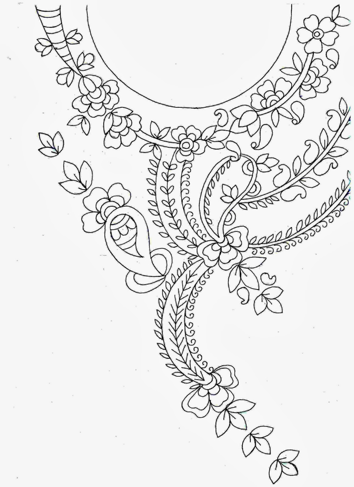 1164x1600 Embroidery Designs Sketches For Ladies Suits