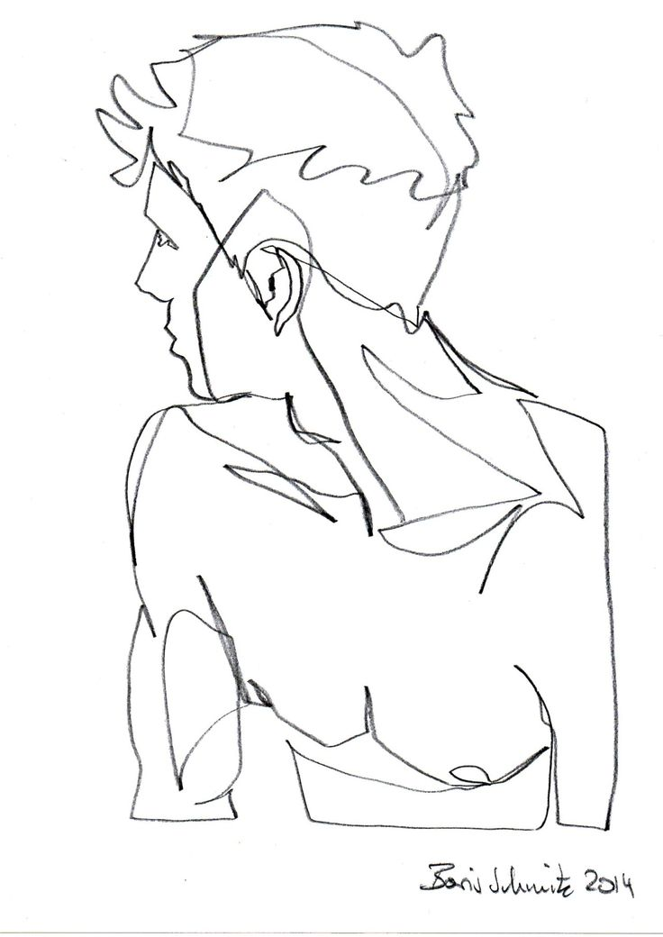 736x1040 Anatomy Study, Single Line Drawing Drawing Sketchbook