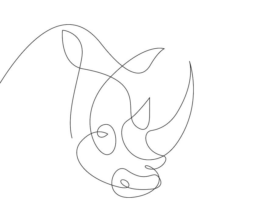 Easy Line Drawings Of Animals : Line drawing animals at getdrawings free for