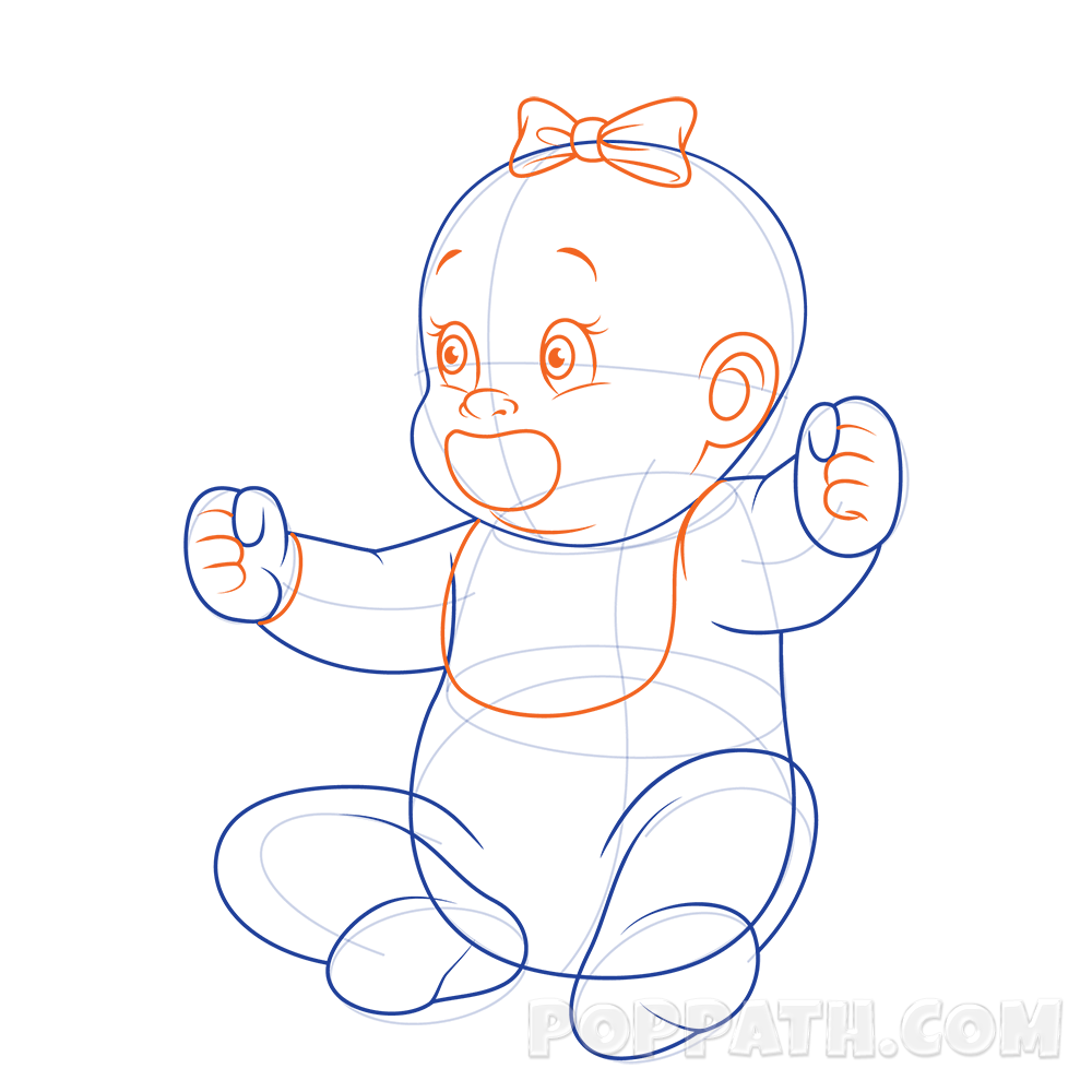 1000x1000 How To Draw A Baby With A Pacifier Pop Path