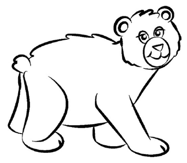 380x332 Image Result For Bear Line Drawing Animal Line Drawings