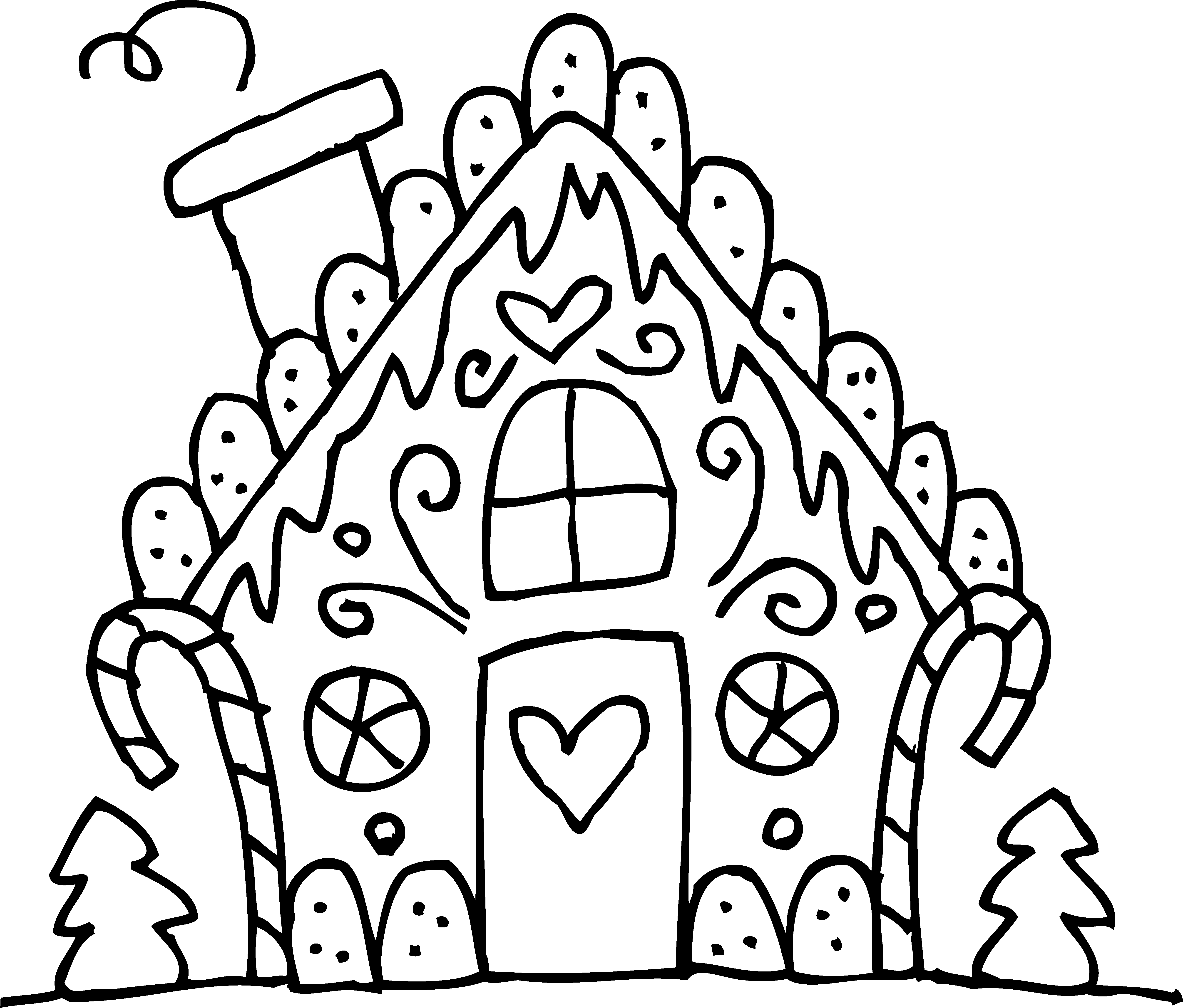 5208x4440 Gingerbread House Coloring Pages Preschool For Beatiful Draw Pict