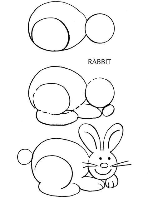474x634 Bunny Rabbit Drawing Tutorial Draw Bunny Rabbit