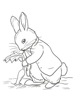 236x332 Simple Line Drawing Peter Rabbit