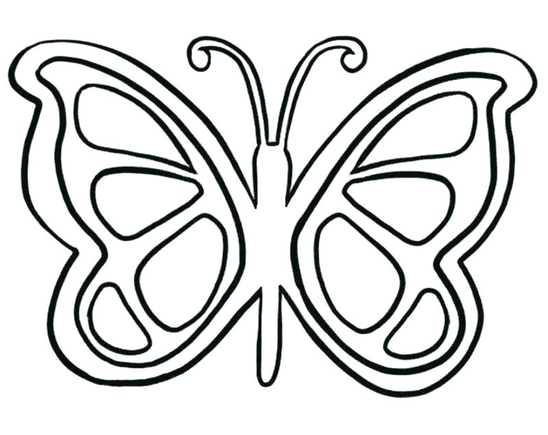 800x635 Monarch Butterfly Coloring Pages Monarch Butterfly Line Drawing