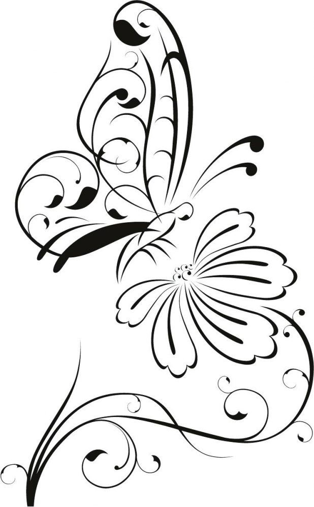 618x997 Coloring Pages Captivating Butterfly Outline. Monarch Butterfly