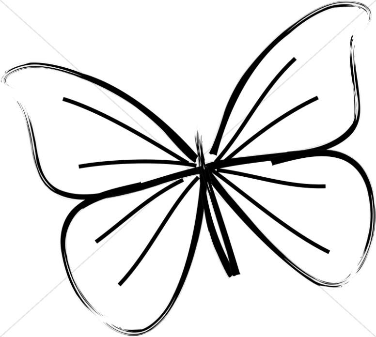 776x696 Single Butterfly Line Art Butterfly Clipart