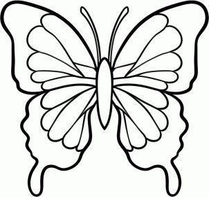 302x284 As 25 Melhores Ideias De Butterfly Drawing No