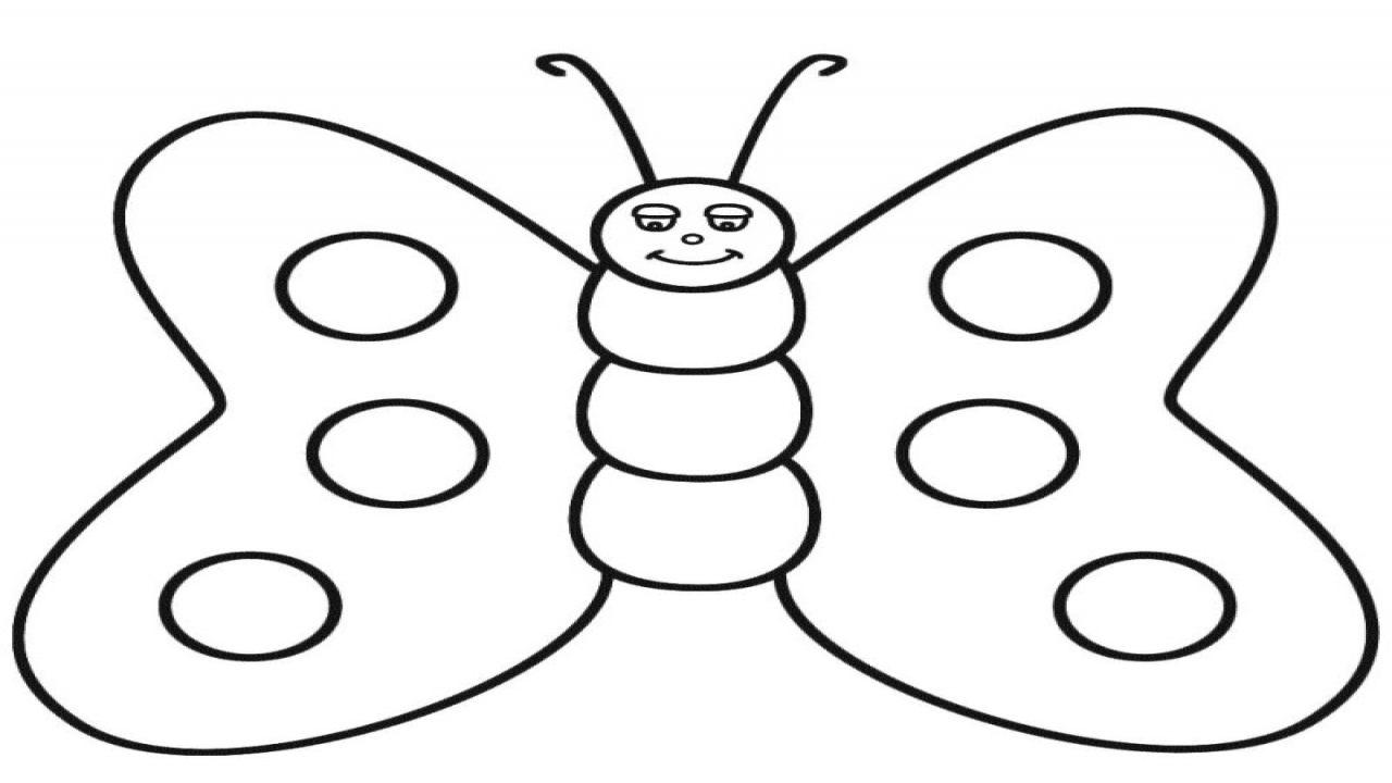 1280x720 Butter Coloring Pages Cute Butterfly Line Drawing Clip Art