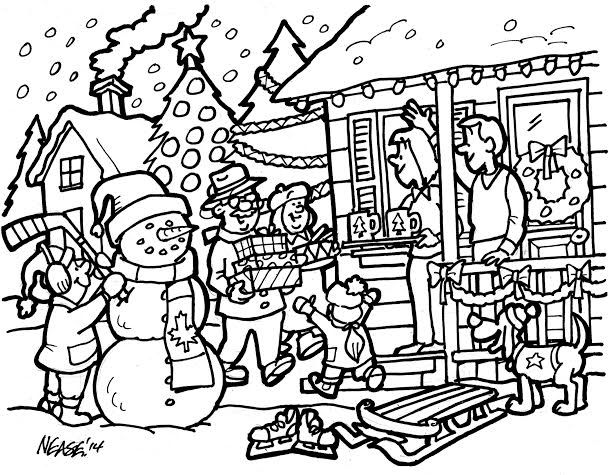 609x475 Santa Claus Colouring Contest Oakville News Oakville News