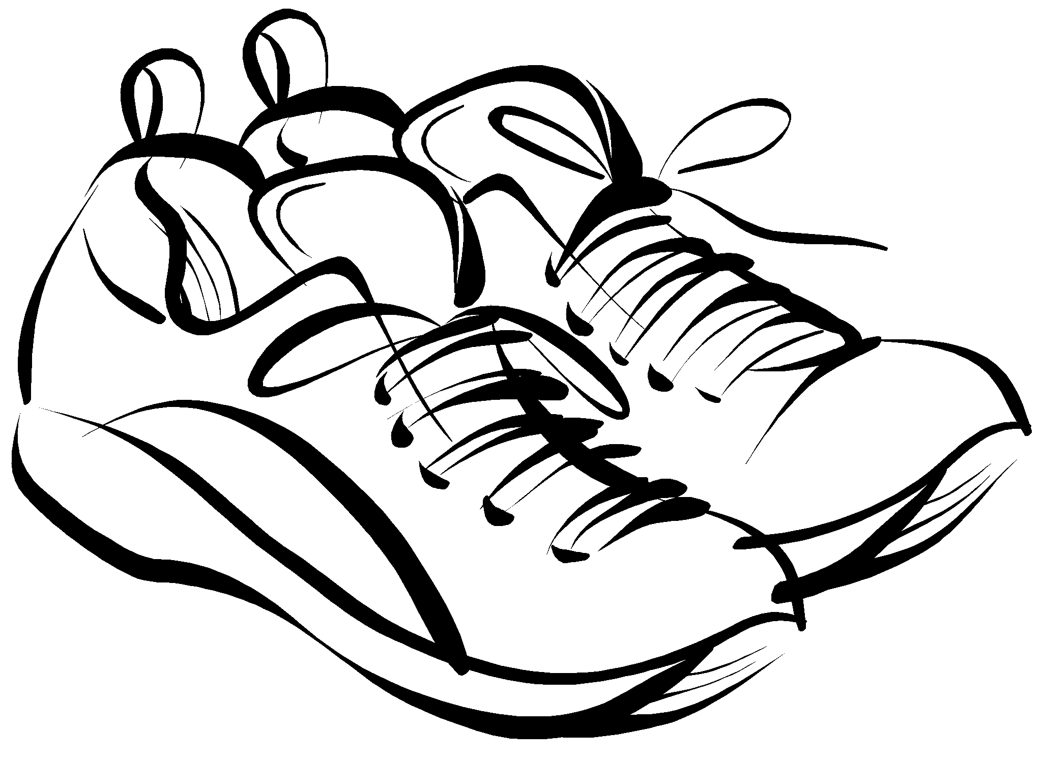 2050x1492 Girl Sneaker Coloring Page New Picture Shoe Clip Art Clipart