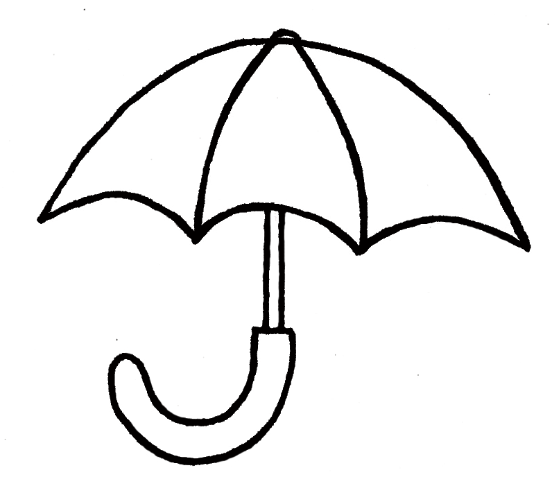 796x688 Umbrella Clipart Line Drawing
