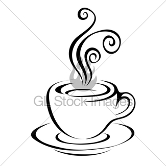 325x325 Line Art Coffee 4 Gl Stock Images