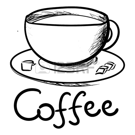 Cute Coffee Cup Drawing