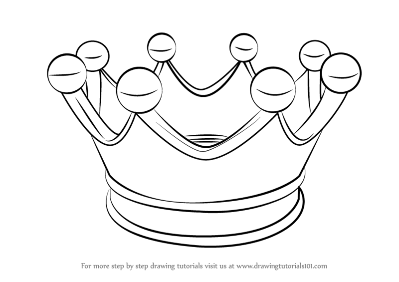 800x565 Learn How To Draw A Crown For Kids (Everyday Objects) Step By Step
