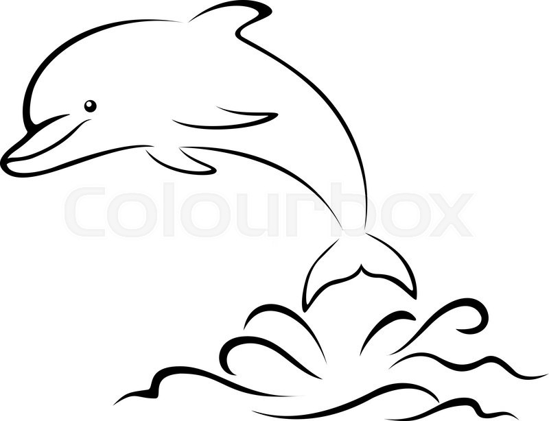Line Art Dolphin : Line drawing dolphin at getdrawings free for