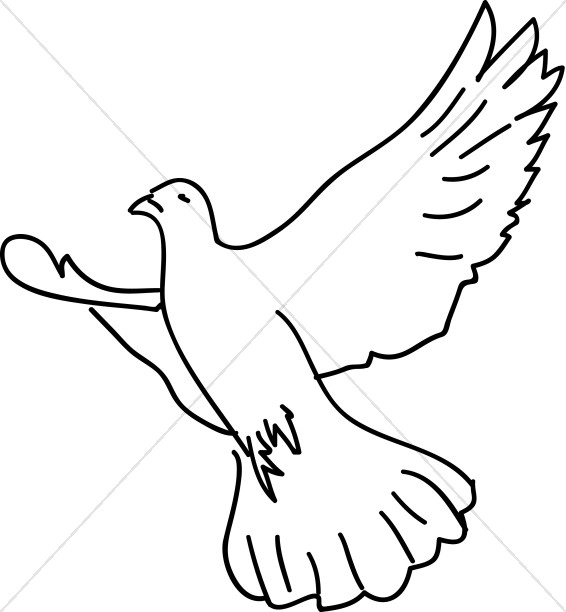 566x612 Dove Soaring With Wings Expanded Dove Clipart
