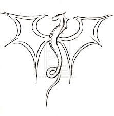 Line Drawing Dragons