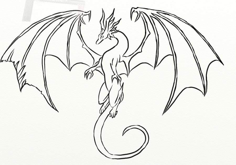 Line Drawing Dragons at GetDrawings | Free download