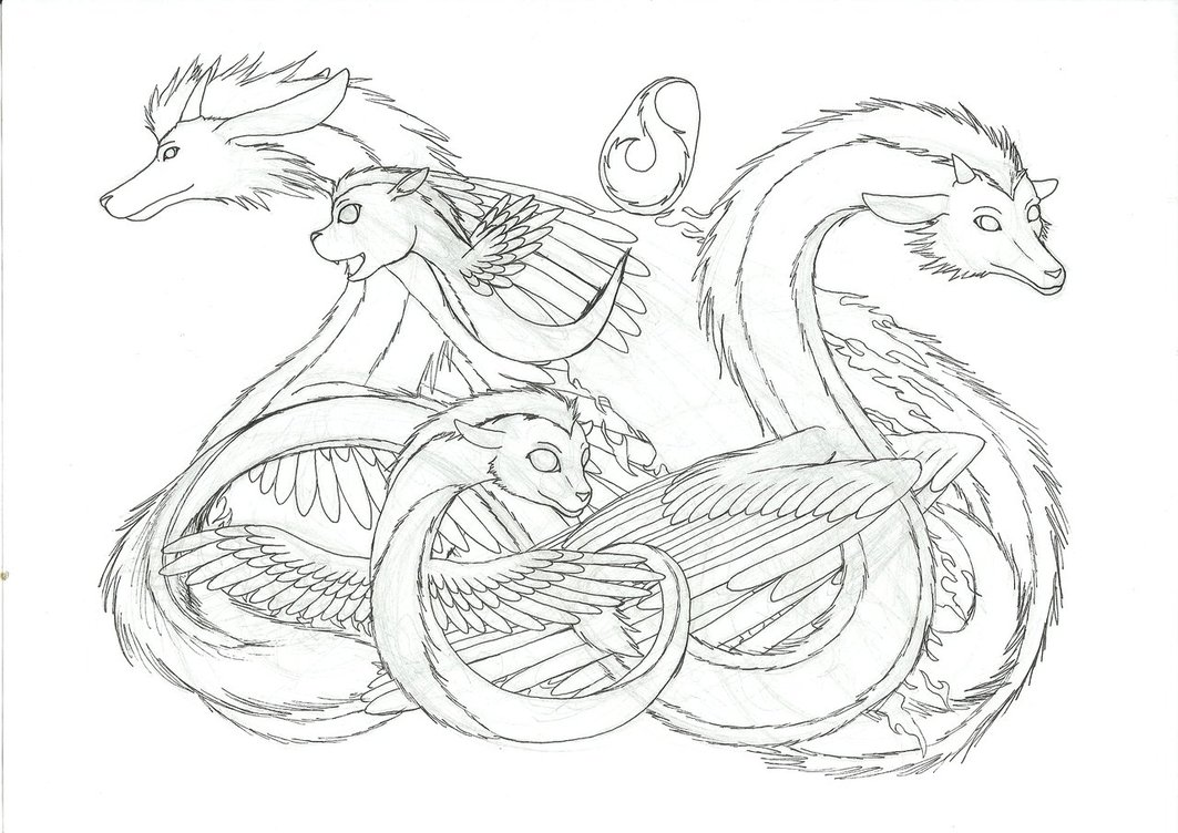 1063x752 Mystery Dragon Line Art By Madame Meepers