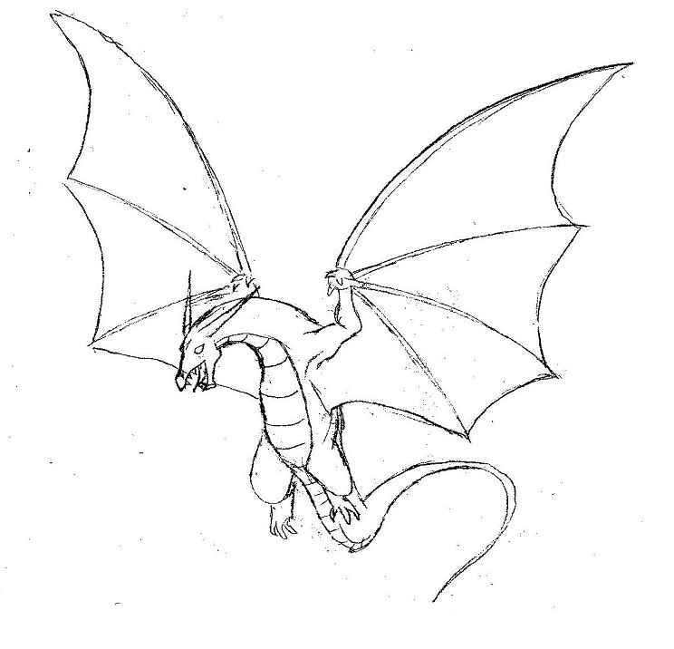 744x716 Simple Dragon Drawings With Wings Flying Dragon By Shelleyn
