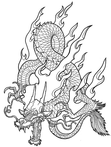 379x500 Dragon Dragons, Adult Coloring And Drawings