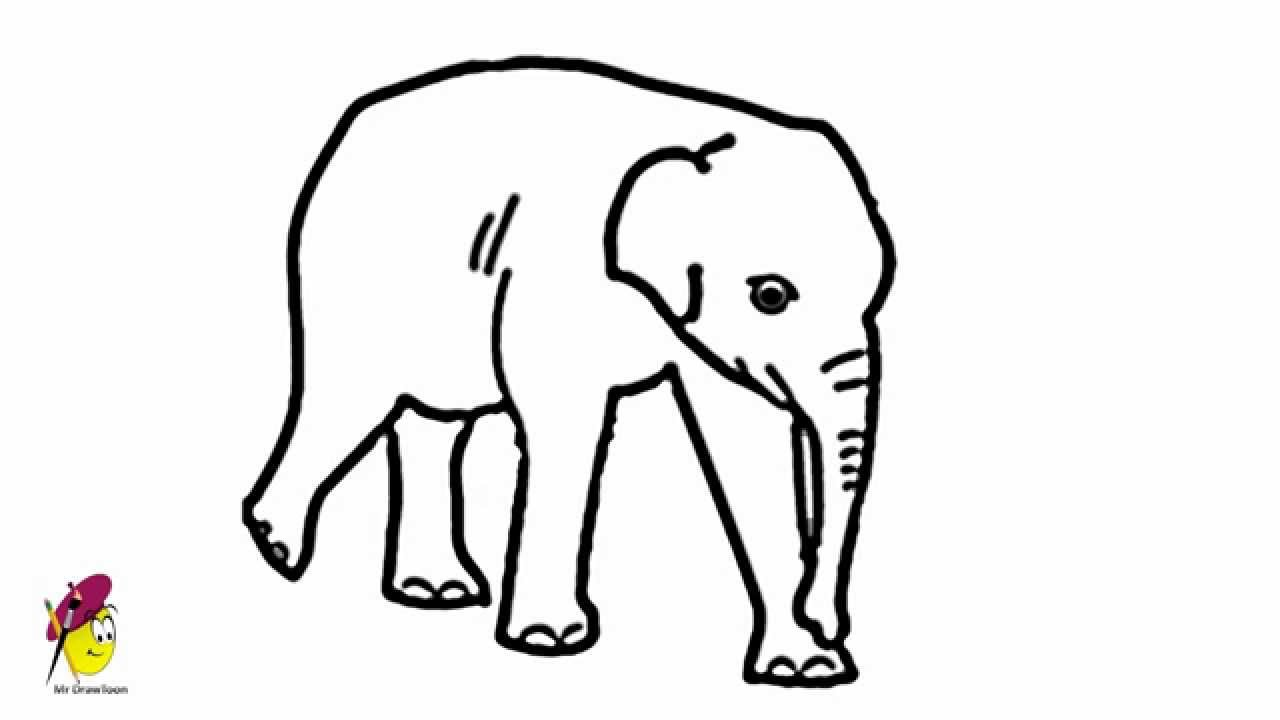 Line Drawing Elephant At Getdrawings Com Free For Personal Use